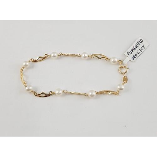 cf2ddc01f43f Pulsera Oro con perlas comunión - Joyería Amores. Tienda online ...