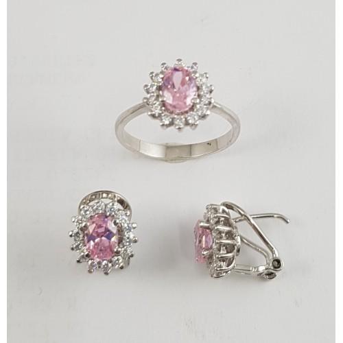 63f761809b95 Conjunto rosetón plata anillo y pendientes - Joyería Amores. Tienda ...