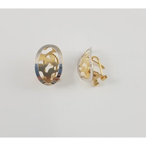 el precio más bajo 1fdc4 5debc Pendientes Oro Blanco y Oro Amarillo cierre omega