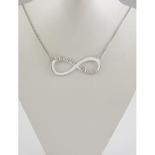 f94df89633d8 Collar Infinito Nombres Plata - Joyería Amores. Tienda online joyas ...
