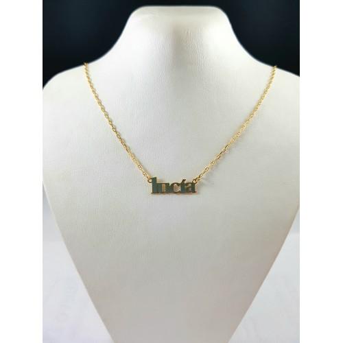 7d64ab826024 Collar Nombre Oro 18 Kilates - Joyería Amores. Tienda online joyas ...