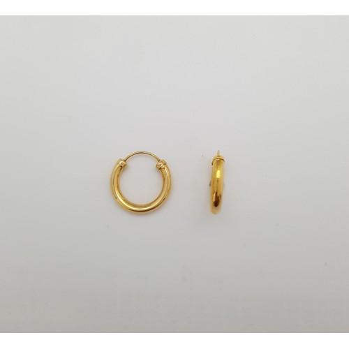 1bb112801210 Pendientes Aro Oro Amarillo 18 Kilates x-1610488 - Joyería Amores ...