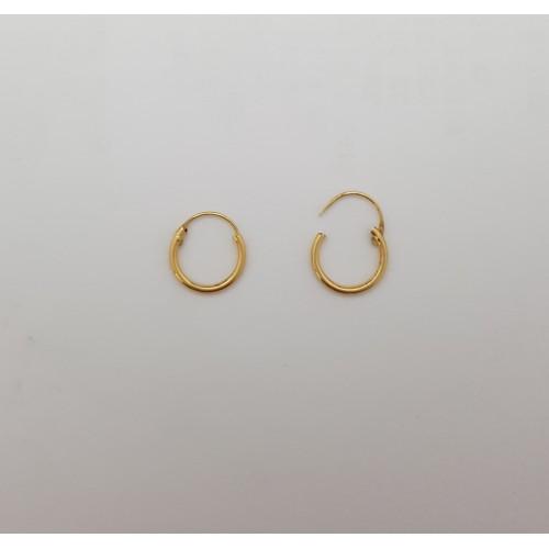 7ccf94dc5f81 Pendientes Aros de Oro Amarillo 18 Kilates - Joyería Amores