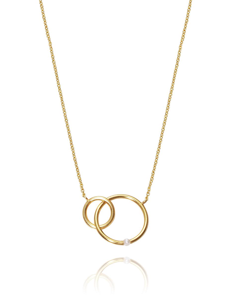 ff14666ffcd2 Colgante plata Viceroy aros con perla bañados en oro COLGANTES PLATA