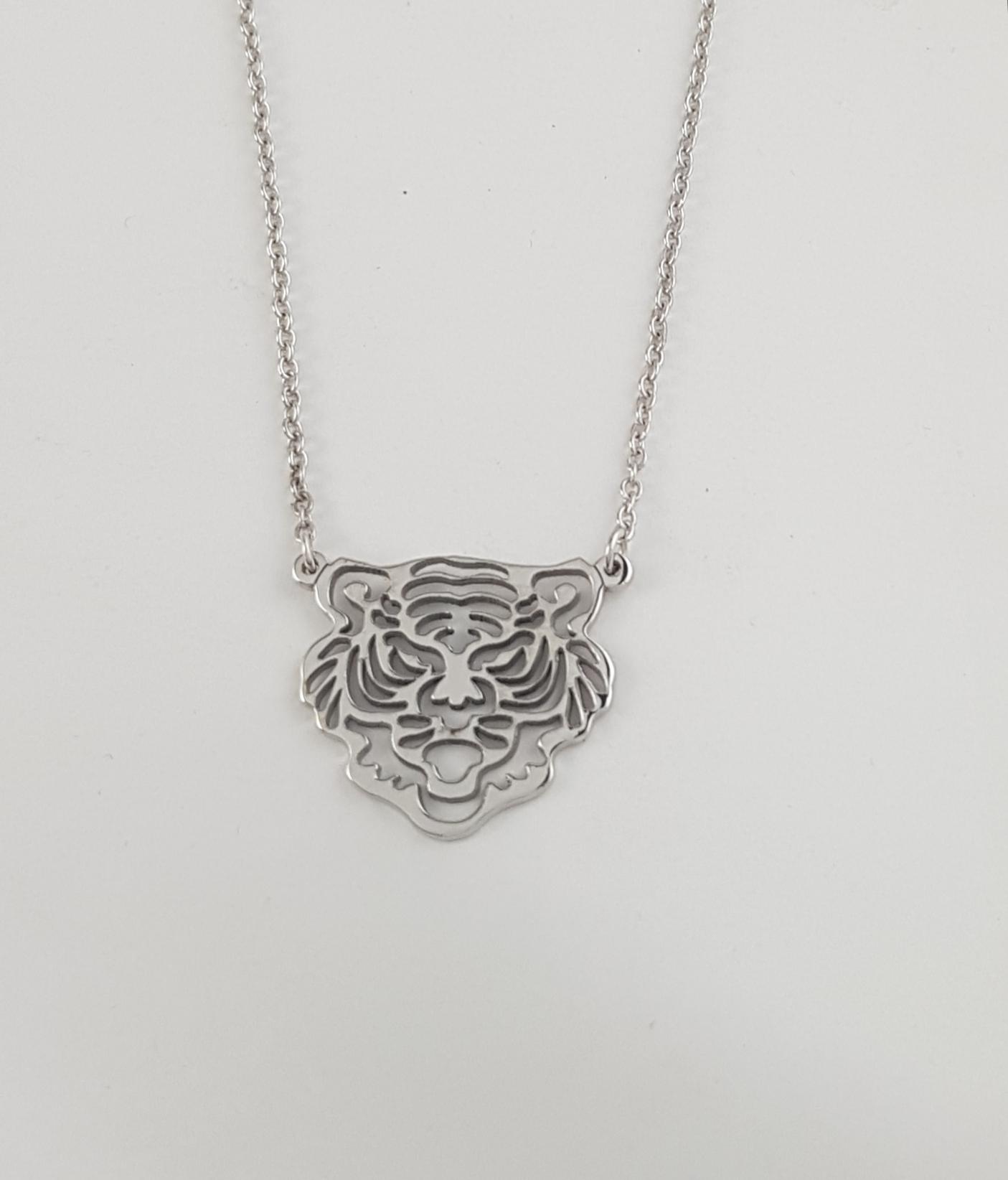 6d5a50566 Colgante tigre plata - Joyería Amores. Tienda online joyas personalizadas y  artesanales