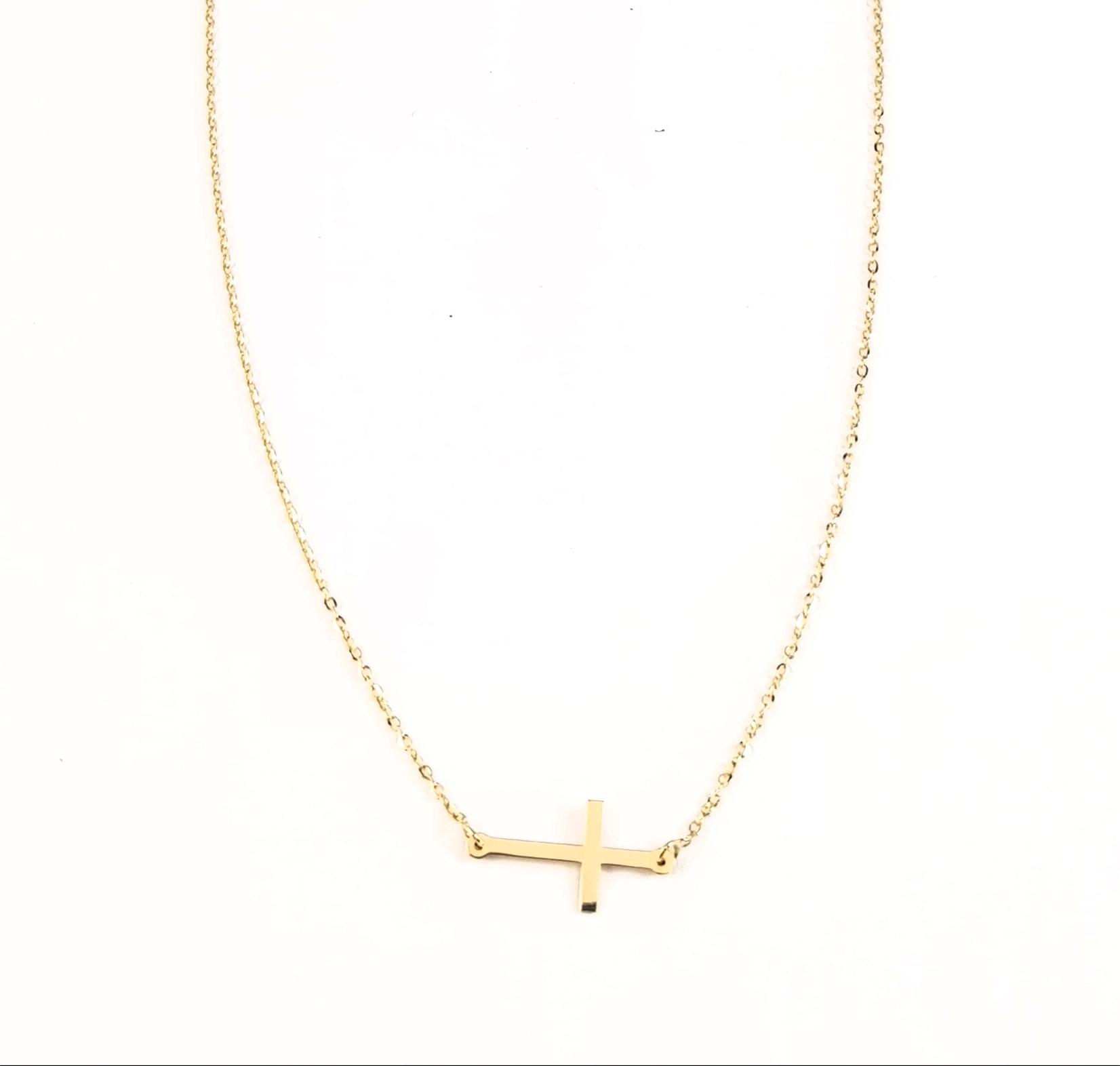 be64cd376208 Colgante cruz oro - Joyería Amores. Tienda online joyas personalizadas y  artesanales