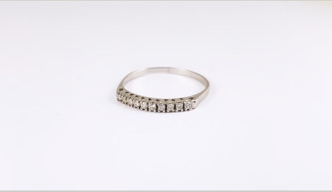 70b656211118 Anillo Oro Blanco y Brillantes - Joyería Amores. Tienda online joyas  personalizadas y artesanales
