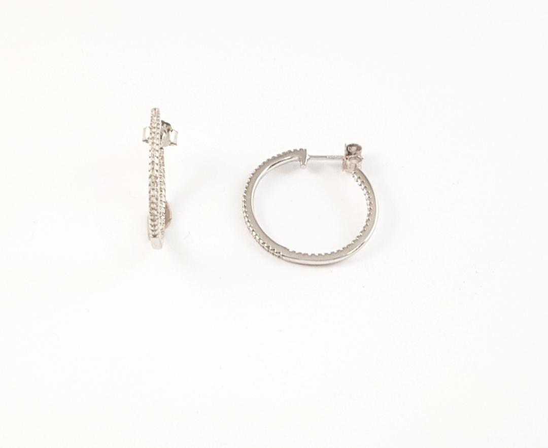 8366d004fe5d Pendientes aro plata con zirconitas - Joyería Amores. Tienda online joyas  personalizadas y artesanales