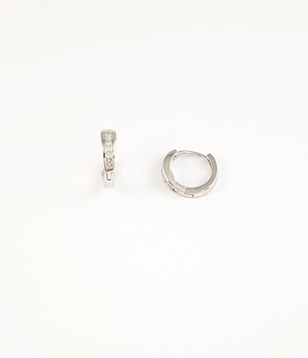 d941ee5e806e Pendientes aro plata con circonitas - Joyería Amores. Tienda online joyas  personalizadas y artesanales