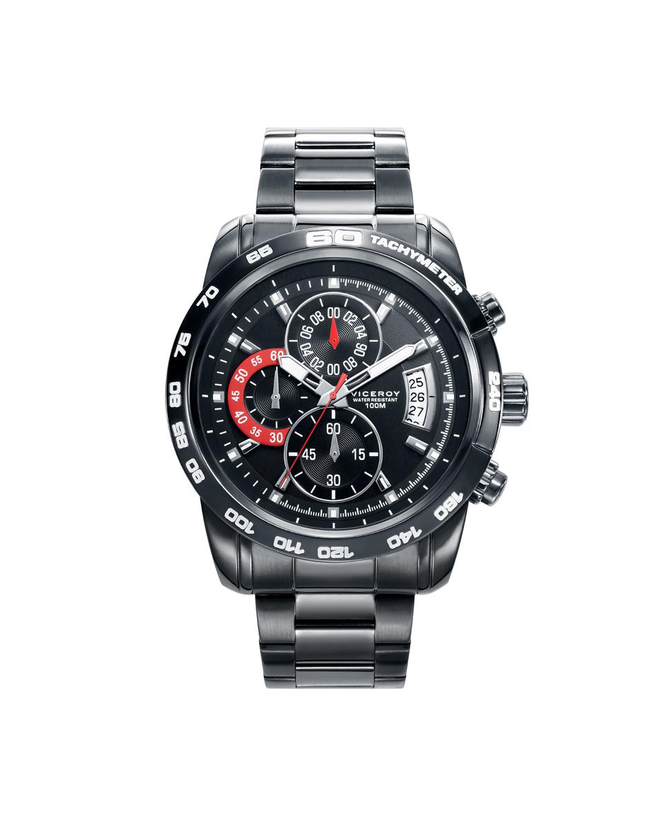 9fdf1028c4b5 Reloj Viceroy 40421-59Hombre crono acero IP gris - Joyería Amores ...